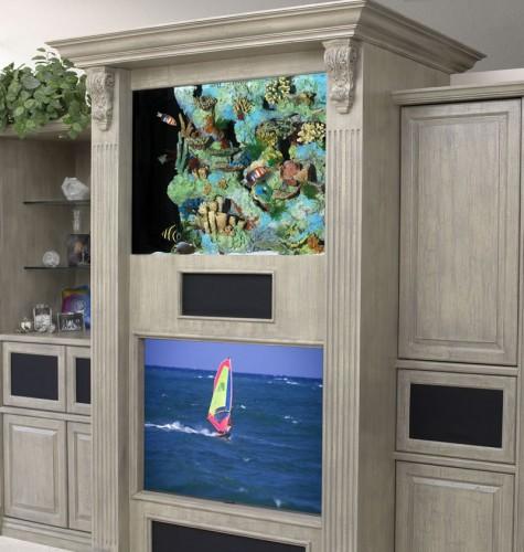 vitrin akvaryum tasarımı
