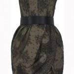 yılın modası dantel straplez elbise