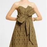 yazlık fiyonklu elbise modeli