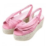 yazlık pembe deri ayakkabı