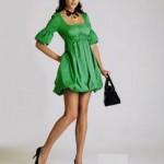 yeşil çok trend genç abiye modelleri
