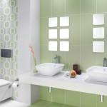 yeşil banyo seramikleri dekoru