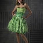 yeşil en güzel genç abiye elbiseler