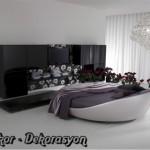 yuvarlak yatak italyan modası örneği