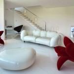 zambak şeklinde koltuk italyan modeli tasarımları