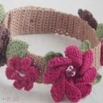 çiçekli örgü saç bandı resimleri