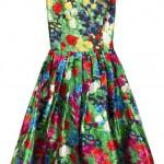 çiçekli kolsuz elbise modeli