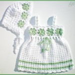 çiçekli tıp işi kız çocuk elbisesi