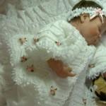 çok şirin mükemmel bebek örgü elbiseleri