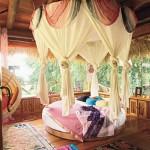 çok güzel yuvarlak yatak örtüleri