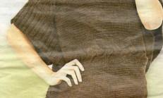 Kahverengi Oval ve boğazlı Bayan Panço Modeli