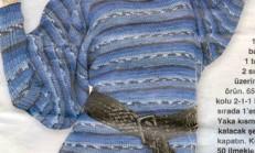 Yarasa Kollu Örgü Bayan Elbise Modeli