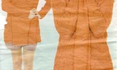 Turuncu Renkli Şal Yaka Hırka Ve Tozluk Takımı