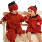 örgü işi muhteşem bebek elbiseleri