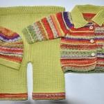şapka pantolon kazak bebek takımı