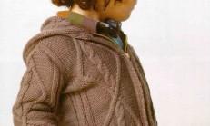 Baklava Dilimli Fermuarlı Erkek Çocuk Hırka Modeli