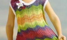 Zıkzak Örnekli Çizgili Renkli Çocuk Örgü Jile Modeli