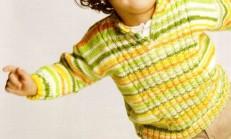 Burgu Modelli Renkli Erkek Çocuk Kazak Örneği