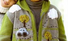 Üzeri İşlemeli Fermuarlı Erkek Çocuk Hırka Modeli