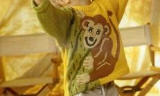 Maymun Modelli Erkek Çocuk Renkli Kazak Örneği