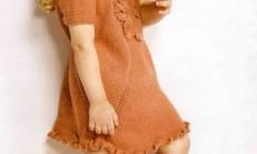 Yarım Kollu Fırfırlı Kız Çocuk Elbise Modeli