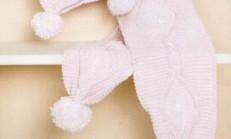Pembe Renkli Ponponlu Çocuk Atkı Bere Modeli