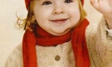 Burgu Modelli Kırmızı Kız Çocuk Atkı Bere Takımı