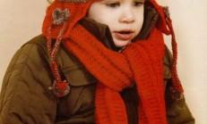 Renkli Kulaklıklı Kız Çocuk Atkı Bere Modeli