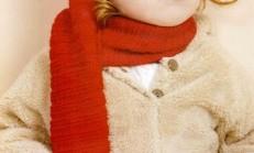 Çiçek Süslemeli Kırmızı Çocuk Atkı Bere Modeli