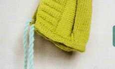 Yeşil Renkli Örgü Bebek Bere Modeli