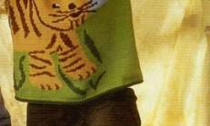 Kedi Modelli Kolsuz Kız Çocuk Kazak Örneği