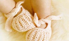 Şirin Örgü Bebek Patiği Modelleri