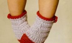 Renkli Çiçekli Çorap Şekilli Kız Bebek Patik Modeli