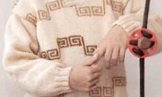 Kahverengi Ceket Yakalı Erkek Çocuk Kazak Modeli