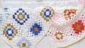 Renkli Motifli Örgü Bebek Battaniye Modeli