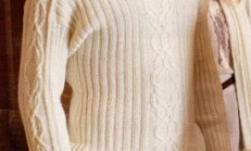 Boğazlı Lastik Örgü Bej Erkek Kazak Modeli