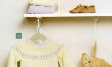 Krem Rengi Örgü Patikli Bebek Pantolon Modeli