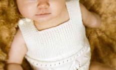 Krem Rengi Kolsuz Bebek Tulumu Modeli