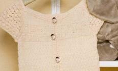 Kelebek Modelli Kız Çocuk Yelek Modeli