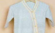 Çapraz Düğmeli Erkek Bebek Hırka Modeli