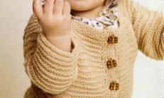 Haraşo Modelli Bej Renkli Bebek Hırka Modeli