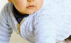Fermuarlı Haraşo Örgü Erkek Bebek Hırka Modeli