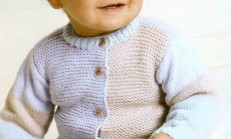 Haraşo Modelli Renkli Bebek Hırka Modeli