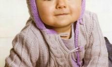 Burgu Modelli Erkek Bebek Örgü Hırka Örneği