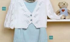 Açık Mavi Renkli İp Askılı Bebek Elbise Modeli