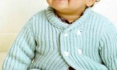 İnci Yakalama Örnekli Erkek Bebek Hırka Modeli
