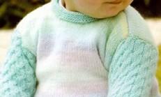 Haraşo ve Saç Örgü Desenli Bebek Kazağı Örneği