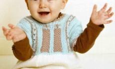 Üç Renkli Yarım Kollu Kız Bebek Elbise Modeli