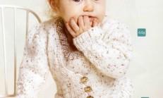 Selanik Modelli Kız Çocuk Örgü Hırka Örneği