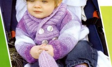 Ceket Modelli Ebruli Bebek Hırka ve Patik Modeli